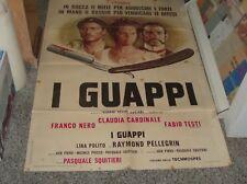 I GUAPPI manifesto 2F original 1974 F. BLACK C. CARDINAL F. TESTI P. SQUITIERI
