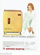 PUBLICITE ADVERTISING 116  1965  Arthur Martin    poele à mazout
