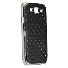 für SAMSUNG GALAXY S3 S3 Neo Strass Hülle Tasche Handy Cover Case + Folie schw.
