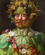"Oil painting Giuseppe Arcimboldo - Vertumnus, Rudolf II fruits portrait 48""x72"""
