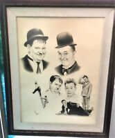 Art Print Laurel and Hardy Print Tillman glare resistant glass