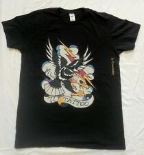 Ed Hardy 77 Tattoo By Christian Audigier Eagle Lightning Bolt  Women's Shirt LG