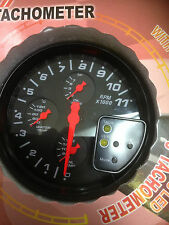4IN1 TACHOMETER REV COUNTER GAUGE SHIFT LIGHT INC, 7 COLOUR BACK LIGHT