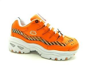 SKECHERS LINE FRIENDS ENERGY ANIMATED OUTLOOK ORANGE WOMEN SHOES SIZE 8