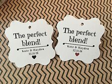 Wedding Favor Tags, Perfect Blend Tags, Coffee/Tea Personalized Wedding Tag