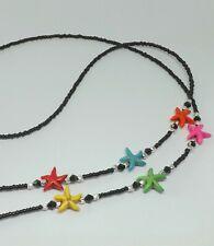 Bright Coloured Starfish Beaded Handmade Glasses Chain Spectacles Holder Chain