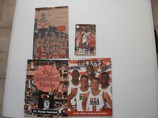 LOT OF 4 DREAM TEAM MAGAZINES-PRICE GUIDE-McDONALDS BAG