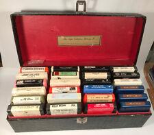 8 Track Case & 24 Tapes. Vintage
