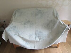 """Kate Forman Blue Roses fabric Large Remnant - 53"""" x 63"""" / 160cm x 135cm"""