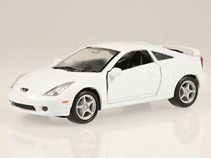Toyota Celica 2002 white diecast model car 42327 Welly 1:37