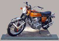 MOTO MINIATURE, HONDA 750 FOUR ORANGE, EN HORLOGE, 05