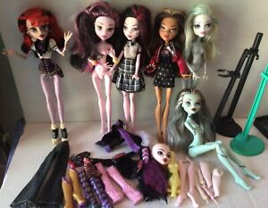Monster High Lot Dolls Shoes Misc CAM Parts Accessories