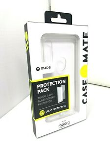 Case-Mate Protector Pack + Glass Screen for Moto G Power - CLEAR