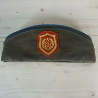 Russian Army Pilotka Hat Soldier Soviet USSR Military Cap Vintage with badges