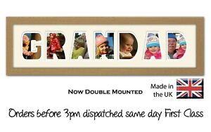 Grandad Photo Frame Letter Word Name Frame Double Mounted