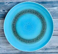 """Vintage Syracuse China Carefree Calypso Aruba 10"""" Dinner Plate ~ Turquoise"""