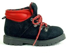 Carters Toddler Boys Hiking Boots Stone Black Red Lace Up Buffalo Plaid Sz 10