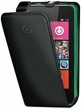 CELLY FACE427 CUSTODIA CON FLAP COMPATIBILE CON LUMIA 530 ECOPELLE COLORE NERO