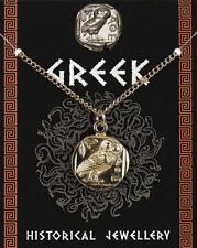 GRECO Medaglia Ciondolo Gufo-Placcato oro