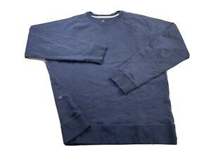 Mack Weldon Crew Neck Sweatshirt Navy Blue Size XL Soft Stretch Cotton Pullover