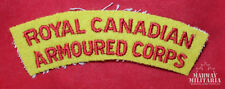 Royal Canadian Armoured Corps Embroidered Cloth Shoulder Flash  (13767)