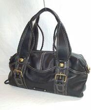 HYPE  Black Leather  Hobo Handbag Shoulder Bag Rope Design