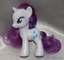 "2011 My Little Pony G4 Fim 3"" White Rarity Unicorn Figure Violet & Magenta Mane"