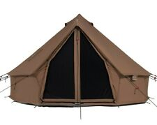 Cotton Canvas Bell Tent 4M Waterproof Glamping & Family Camping Regatta Tent
