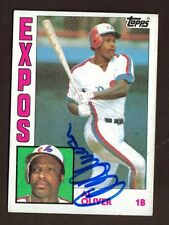 1984 TOPPS #620 AL OLIVER EXPOS AUTO SIGNED CARD JSA STAMP B