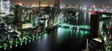 "LARGE CANVAS ARTWORK CITY SCENE TOKYO CITYSCAPE 44""x20"""