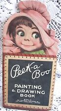 Vintage Peek-a-Boo Painting & Drawing Book, 1915 The Saalfield Publishing Co.