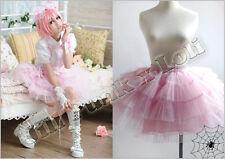 Punk KERA Tiered Puff Tulle Mesh Skirt crinoline Petticoat pink JN2068