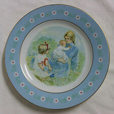 Mother's Plate - 1974 Avon Tenderness Award Plate by Pontesa - Gold Edged