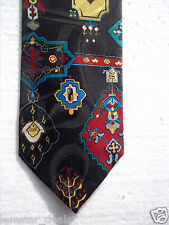 Henry Alan Neckwear NEW Men's Black And Multi-colored Tie