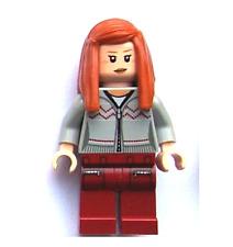 Lego Ginny Weasley 4840 Light Bluish Gray Knitwear Harry Potter Minifigure