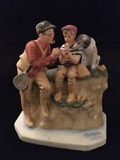 Norman Rockwell Figurine/1961 Trout Dinner Limited Edition/Good Condition Gorham