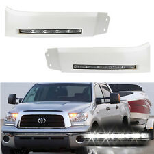 Pair 2007-2013 Toyota Tundra Sequoia LED SMD DRL Bumper Filler Fog Lights Lamps