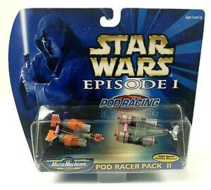 star wars micro machines Pod Racer Pack 2 set Hasbro Galoob 1998 Sealed