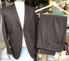 """VTG 50s Mens Suit 42R Drop Loop Slacks Brown Wool 32x29"""" EUC Hart Shaffner Marx"""