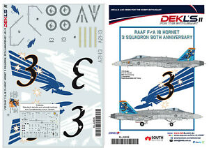 1/32 F/A-18 Hornet - RAAF 3 SQN 90th Anniversary A21-13 Decal DEKL's II