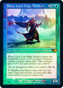 MTG - Urza, Lord High Artificer *FOIL ETCHED* Mythic Rare - Modern Horizons 2