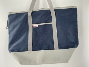 Costco Extra Large Reusable Insulated Shopping Cooler Bag  Blue and Navy used