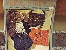 Purse Strings macrame Handbags Liz miller Rose Brinkley 14 designs handbags