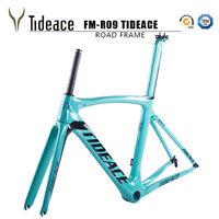 2020 AERO T800 Carbon Fiber Road Racing Bike Frames OEM 49/52/54/56/58 Celeste