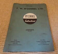 McConnel Accessoires et pièces de rechange liste pour le pouvoir Bras U, F/M & D.B. III