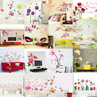 DIY Blossom Wall Stickers Flower Rose Butterfly Art Mural Decal girl Home Decors