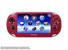 PlayStation PS VITA Console Wi-Fi Model Red PCH-1000 ZA03 Japan Good Condition