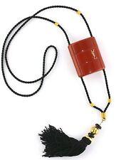 Vintage YSL Yves Saint Laurent Opium Perfume Tassle Case Necklace Perfume 95%