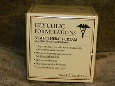 NIB Glycolic Formulations Night Therapy Cream 25% Glycolic Acid 1.7oz