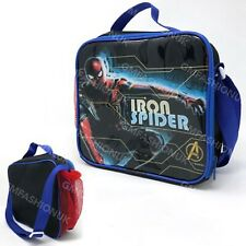 Marvel Avengers SpiderMan Insulated Lunch Pack Box Bag Kids Boys School Food Box